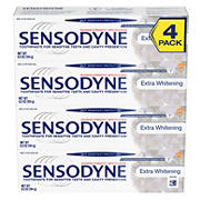 Sensodyne Extra Whitening Fluoride Toothpaste for Sensitive Teeth, 4 ct.