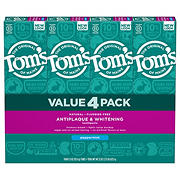 Tom's of Maine Antiplaque and Whitening Fluoride-Free Peppermint Toothpaste, 4 ct.