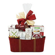 Wine Country Faux Suede Gift Basket, Burgundy
