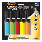 BIC EZ Reach Lighters, 5 pk.