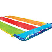 BANZAI Triple Tag Racer Summer 16' Water Slide for Kids with Inflatable Drenching Blast Pad and Crash Pad