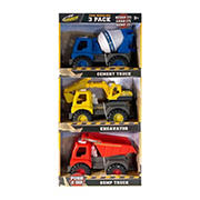Kid Galaxy Toy Construction Vehicles, 3 pk.