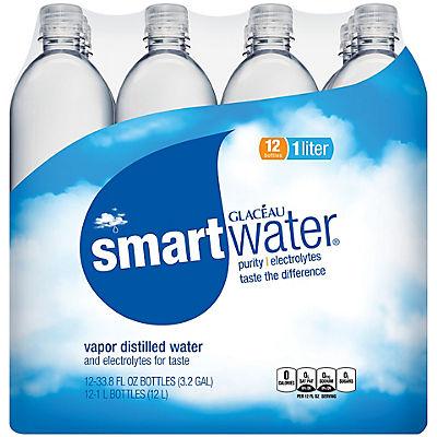 Glaceau Smart Water, 12 pk./1L
