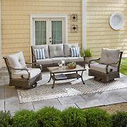 Berkley Jensen Windsor 4PC Aluminum Conversation set with Swivel Club Chairs