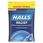 Halls Mentho-Lyptus Flavor Cough Drops, 200 ct.