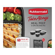 Rubbermaid 60-Pc. TakeAlongs Meal Prep Containers Set