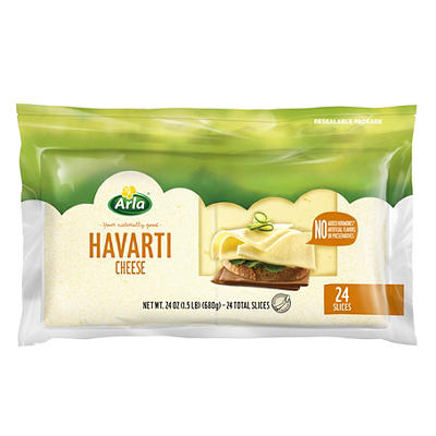 Arla Dofino Havarti Cheese Slices, 24 oz.