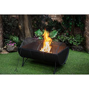 "Berkley Jensen 35"" Wood Fire Pit with Cover"