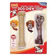 Nylabone Big Chicken/Big Beef Chew Toys, 2 pk.