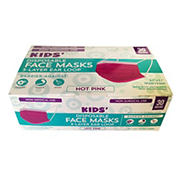 Kids Hot Pink Disposable Face Mask, 30 ct.