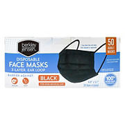 Adult Black Disposable Face Mask, 50 ct.