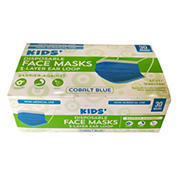 Kids Cobalt Blue Disposable Face Mask, 30 ct.