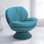 EuroRecline Pelle Fabric Accent Chair - Turquoise
