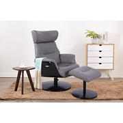 EuroRecline Swiss Recliner - Steel Faux Leather