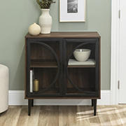 "W. Trends Lola 30"" Industrial Storage Cabinet - Dark Walnut"