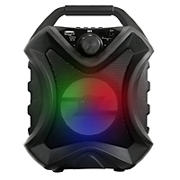 "QFX 4"" TWS Ready Rechargeable Portable Party Speakers with Bluetooth and LED Lights, 2 pk."