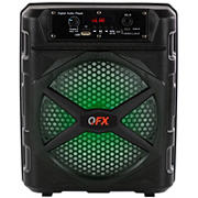 "QFX Lightweight TWS Ready 8"" Rechargeable Party Speaker with Bluetooth"