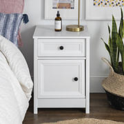 W. Trends Classic Groove Nightstand - White