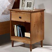 W. Trends Modern 1 Drawer Nightstand - Caramel