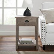 "W. Trends Country 18"" Single Drawer Side Table - Gray Wash"