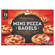 Chef Gusto Pepperoni Mini Pizza Bagels, 72 ct.