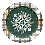 "Artstyle 'Cozy Lodge' Holiday 7"" Dessert Paper Plates, 75 ct."