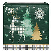 """Artstyle 'Cozy Lodge' Holiday 6"""" 3-Ply Paper Napkins, 120 ct."""