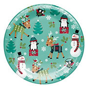 "Artstyle 'Holiday Friends'  7"" Dessert Paper Plates, 75 ct."