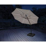 Berkley Jensen 11' Offset Umbrella with Solar LED