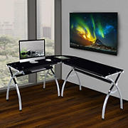 Techni Mobili L-Shaped Corner Desk - Black