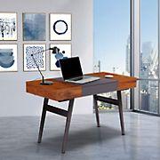 Techni Mobili Expandable Modern Desk - Mahogany