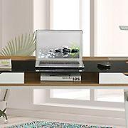 Techni Mobili Compact Computer Desk - Walnut