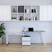 Techni Mobili Rotating Desk - Gray