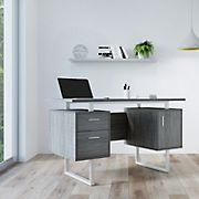 Techni Mobili Modern Office Desk - Gray