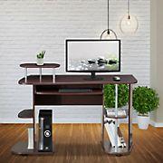 Techni Mobili Computer Workstation Desk - Chocolate