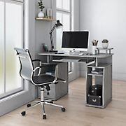 Techni Mobili Complete Workstation Desk - Gray