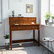 Techni Mobili Elegant Writing Desk - Oak