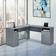 Techni Mobili Functional L-Shape Desk - Gray