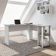 Techni Mobili Modern L-Shaped Desk - Gray
