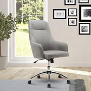 Techni Mobili High Back Desk Chair with Wheels - Gray