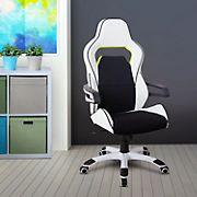 Techni Mobili Ergonomic Racing Chair - White