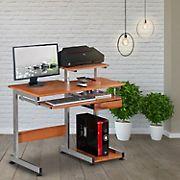 Techni Mobili Space Saving Desk - Woodgrain