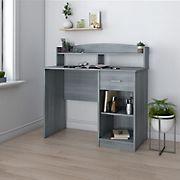 Techni Mobili Modern Desk with Hutch - Gray