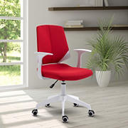 Techni Mobili Height Adjustable Mid Back Office Chair - Red