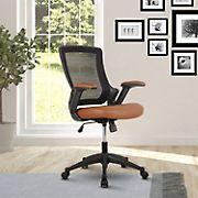 Techni Mobili Mid-Back Mesh Chair - Brown
