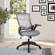 Techni Mobili Mid-Back Mesh Chair - Gray