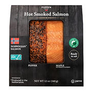 Foppen Hot Smoked Norwegian Salmon Pepper Maple, 12 oz.