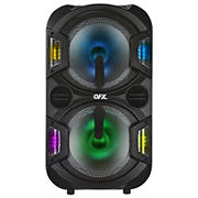 "QFX 10"" Rechargeable Portable Party Speakers with Bluetooth, Microphone, Handle and Wheels, 2 pk."