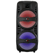 "QFX 8"" TWS Ready Portable Party Speakers with Bluetooth and Microphone, 2 pk."