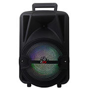 "QFX 8"" Rechargeable Portable Party Speaker with Bluetooth and RGB Light"